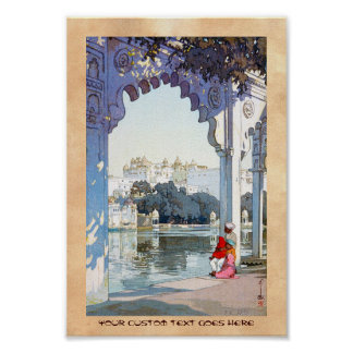 Cool oriental Yoshida Hiroshi udaipur Palace art Poster