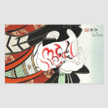 Cool Oriettal Japanese Cangrejo art Rectangular Sticker