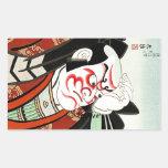 Cool Oriettal Japanese Cangrejo art Rectangular Sticker