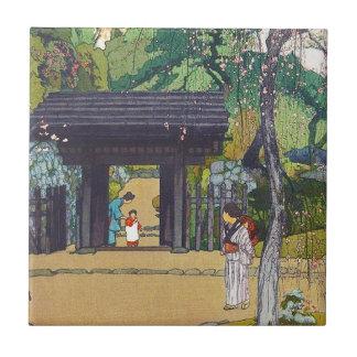Cool orintal japanese Yoshida Temple Shrine Gate Tile