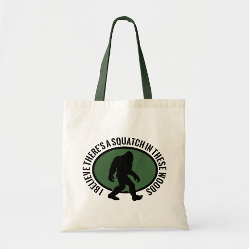 Cool Oval Squatch In These Woods Tote Bag