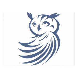 Cool Owl Bird Swish Icon Logo Shirt Postcard