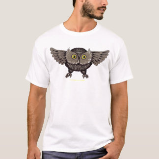 Cool owl graphic art t-shirt design