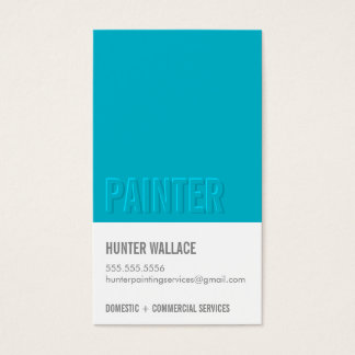 COOL PAINT CHIP swatch embossed look type blue