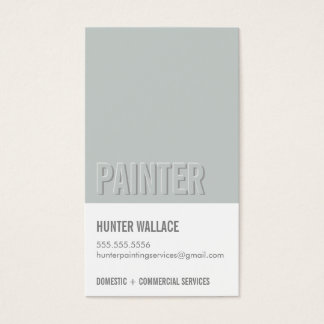 COOL PAINT CHIP swatch embossed look type gray
