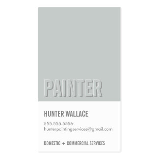 COOL PAINT CHIP swatch embossed look type gray Pack Of Standard Business Cards