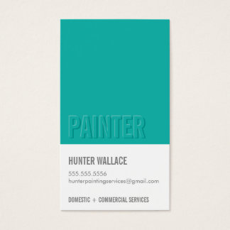 COOL PAINT CHIP swatch embossed look type jade Business Card