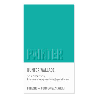 COOL PAINT CHIP swatch embossed look type jade Pack Of Standard Business Cards