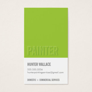 COOL PAINT CHIP swatch embossed look type lime