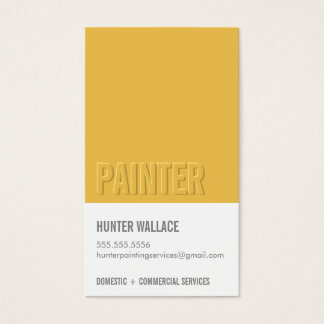 COOL PAINT CHIP swatch embossed look type mustard