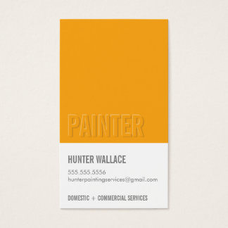 COOL PAINT CHIP swatch embossed look type orange