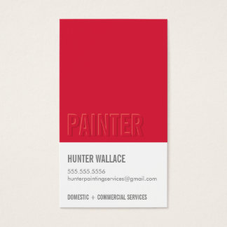 COOL PAINT CHIP swatch embossed look type red