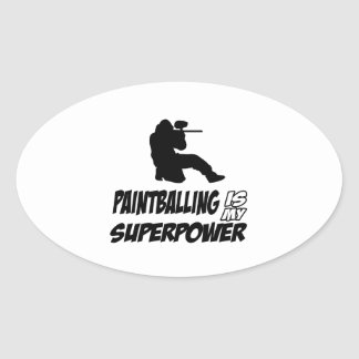 Cool Paintball designs Oval Sticker