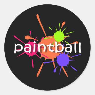 Cool paintball round sticker