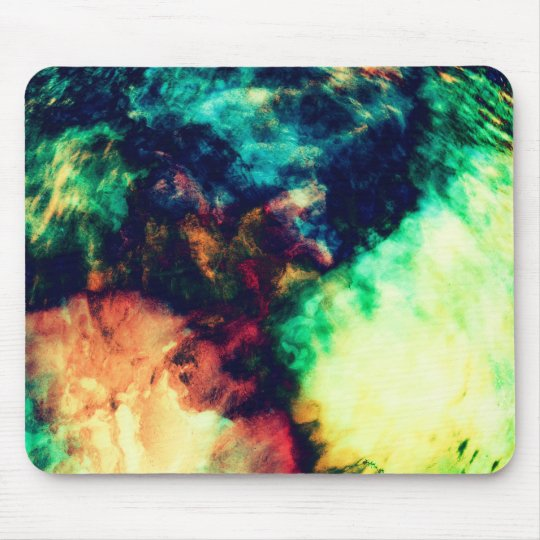 Cool Painted Dark Abstract Smoke Pattern Mouse Pad