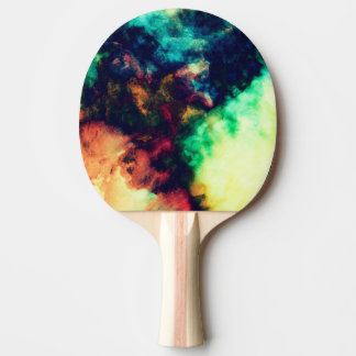 Cool Painted Dark Abstract Smoke Pattern Ping Pong Paddle