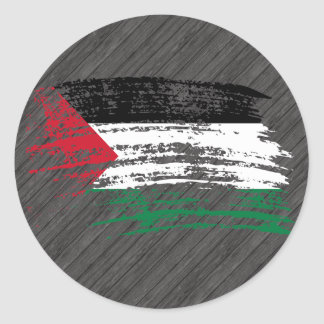 Cool Palestinian flag design Round Stickers
