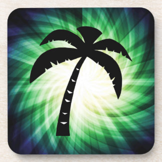 Cool Palm Tree Silhouette Drink Coasters