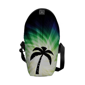 Cool Palm Tree Silhouette Courier Bags