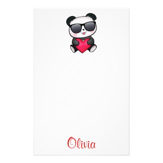 Cool Panda Bear Stationery