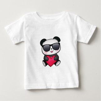 Cool Panda Bear Sunglasses Valentine's Day Heart T-shirts