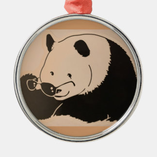 Cool Panda with Shades Christmas Ornament