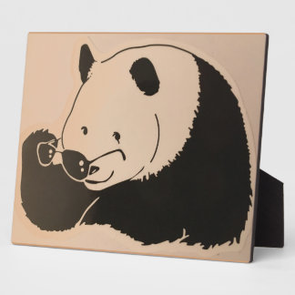 Cool Panda with Shades Plaque