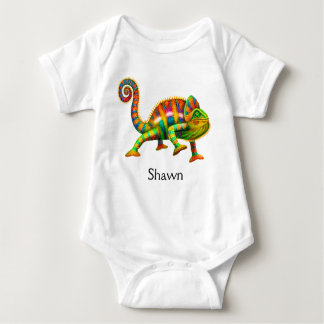 Cool Panther Chameleon Baby One Piece Baby Bodysuit