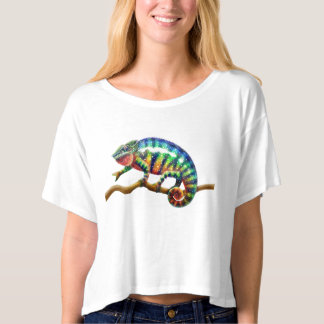 Cool Panther Chameleon Crop Shirt