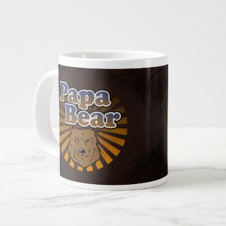 Cool Papa Bear, Brown/Blue/Gold Dad Gift Jumbo Mug
