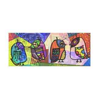 Cool Partridges Canvas Print