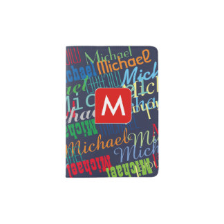 cool passport for a boy with colorful names passport holder