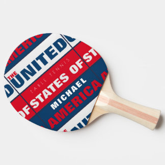 cool patriotic table_tennis paddle with USA name