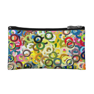 Cool Pattern Abstract Color Rings Poster Makeup Bags