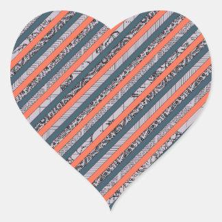 Cool Pattern Diagonal Stripes Coral Indigo Purple Stickers