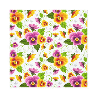 cool pattern flowers gallery wrapped canvas