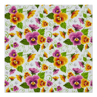 cool pattern flowers posters