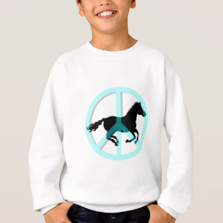 Cool peace symbol horse sweatshirt