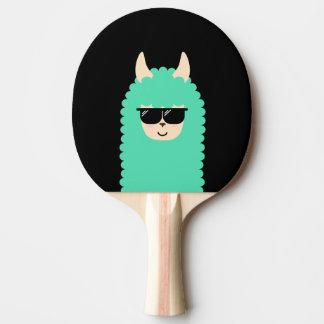 Cool Peekaboo Llama Emoji Ping Pong Paddle