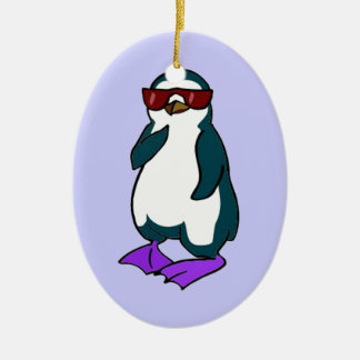 Cool Penguin Christmas Ornament