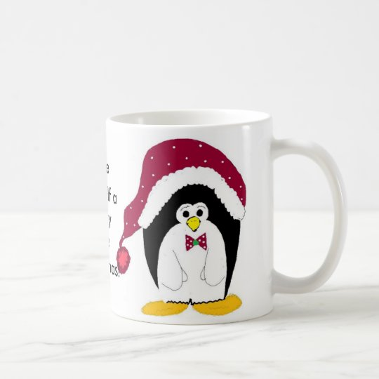 Cool Penguin in a Red Hat Coffee Mug