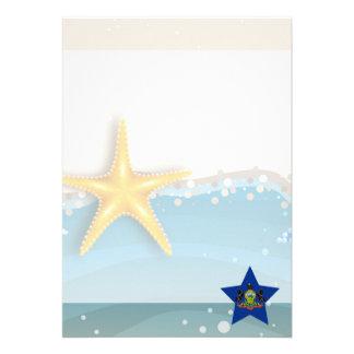 Cool Pennsylvania Flag at the Beach 13 Cm X 18 Cm Invitation Card