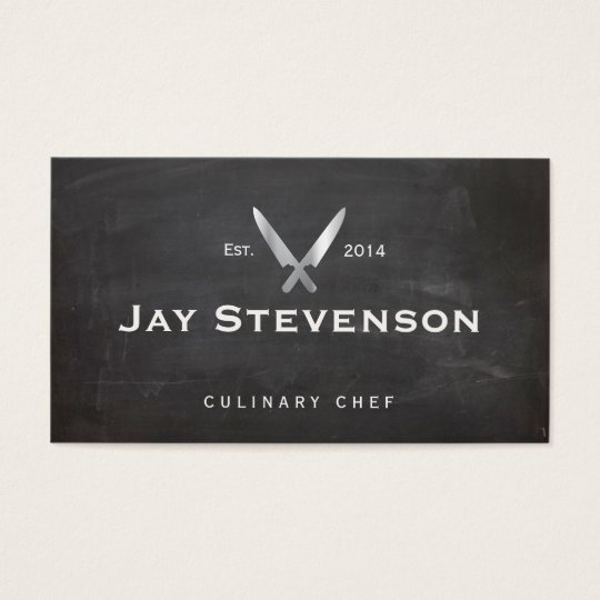 Cool Personal Chef Knife Black Catering Logo Business