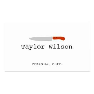 Cool Personal Chef Knife Logo White Catering Pack Of Standard Business Cards