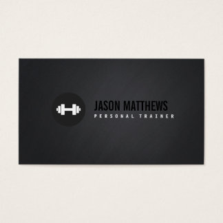 Cool Personal Trainer White Dumbbell Logo Fitness