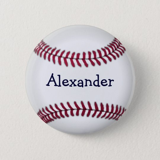 Cool Personalised Baseball 6 Cm Round Badge