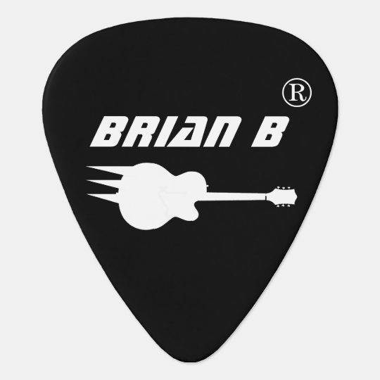cool personalised black guitar pick for rockers