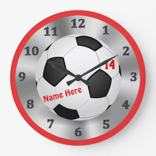 Cool Personalised Soccer Clock for Soccer Bedrooms
