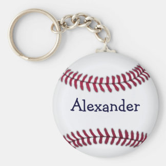 Cool Personalized Baseball Key Ring