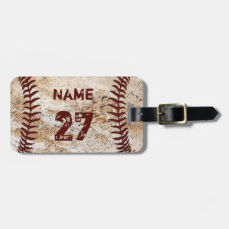 Cool Personalized Baseball Luggage Tags Your Text